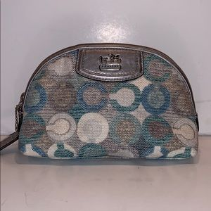Coach Op Art Cosmetic Bag Makeup Case Small